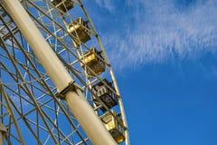 Hjul för Ferrie ` s Önska alltid att se staden från höjden Arkivfoton