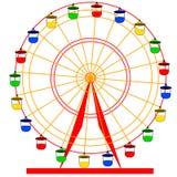 Hjul för ferris för konturatraktsion färgrikt Arkivbild