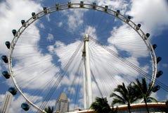 hjul för ferrisreklambladsingapore singapre royaltyfri bild
