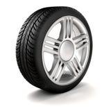 hjul för gummihjul 3d och legerings Royaltyfria Foton