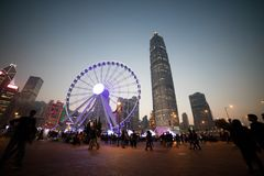 Hjul för Hong Kong landskapferris arkivbilder