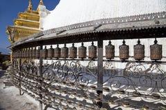 hjul för kathmandu nepal bönswayambunath Arkivfoton