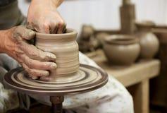 hjul för keramiker s Arkivbilder