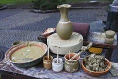 hjul för keramiker s Royaltyfria Bilder
