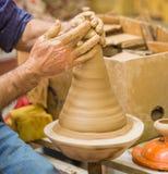 Hjul för keramiker` s Royaltyfria Foton