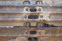 hjul för larvtraktor Arkivfoto
