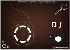 hjul för modell 3d för en film Arkivbilder
