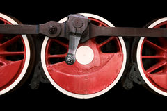 Hjul för rörlig motor för ånga Royaltyfri Fotografi