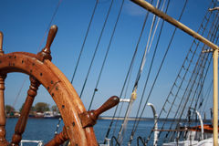 hjul för s-shipstyrning Fotografering för Bildbyråer