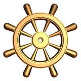hjul för s-shipstyrning royaltyfri illustrationer