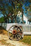 hjul för staketposteringvagn Arkivfoto