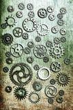 Hjul för Steampunk mekaniska kuggekugghjul Arkivbilder