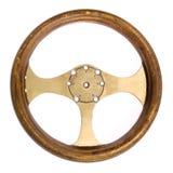hjul för styrning för bilrace retro Arkivbilder