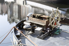 Hjul för tappningfartygstyrning Arkivfoto