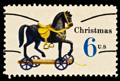 hjul för toy för julhäststämpel Royaltyfri Bild