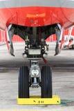 hjul för trafikflygplankugghjulnäsa Fotografering för Bildbyråer