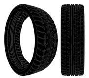 hjul för vektor för gummihjul för bil 09 stock illustrationer