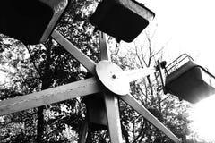 hjul för vektor för park för munterhetferrisnatt Arkivfoton