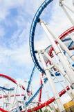 hjul för vektor för park för munterhetferrisnatt royaltyfri foto