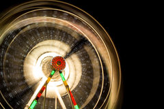 hjul för vektor för park för munterhetferrisnatt Arkivbilder