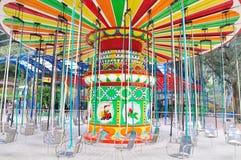 hjul för vektor för park för munterhetferrisnatt Royaltyfria Bilder