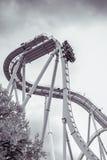 hjul för vektor för park för munterhetferrisnatt Royaltyfri Bild