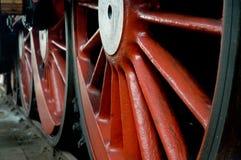 Hjul för ångalokomotiv Royaltyfri Foto