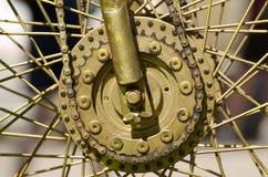 Hjul med eker från cykeln royaltyfria foton