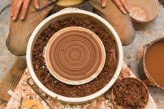Hjul och hjälpmedel för keramiker` s Royaltyfri Fotografi