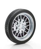 Hjul på vit bakgrund arkivfoto