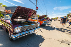 Hjul på Wyandoote klassisk bilshow arkivfoton
