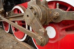 Hjul som en enhet av lokomotivet Royaltyfria Foton