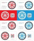 Hjulaffärskort Royaltyfri Fotografi