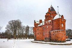 Hjularod Castle in Winter Stock Photo