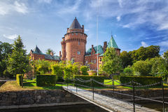 Hjularod fairytale castle stock photos
