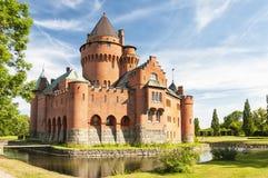 Hjularod slott i Sverige Royaltyfri Fotografi