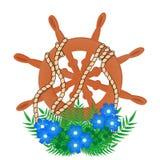 Hjulet och den blom- ordningen royaltyfri illustrationer