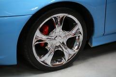 Hjulet som visas på den 3rd upplagan av MOTO-SHOWEN i Cracow Fotografering för Bildbyråer
