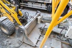 Hjulladdare på en konstruktionsplats Royaltyfria Foton