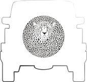 Hjulräkning - gepard stock illustrationer