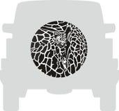 Hjulräkning - giraff royaltyfri illustrationer