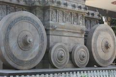 hjulsikt av triumfvagnen i södra Indien Arkivbild