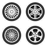 Hjulskiva med däcket Royaltyfria Bilder