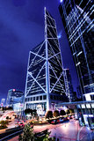 HK中国银行塔视图 免版税图库摄影