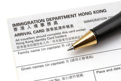 HK Arriva Card Stock Photo