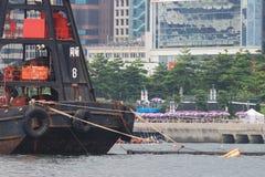 HK-Art des Pontons bei Victoria Harbour Lizenzfreies Stockbild