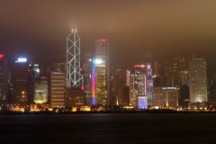 hk Hongkong noc widok Obraz Stock