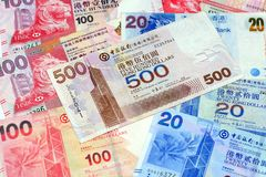 HKD de Hong Kong Dollars fotografia de stock royalty free