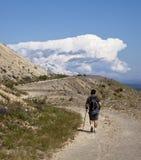 Hking verso il Mt. Adams fotografia stock libera da diritti