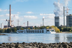 HKM producing steel close to the river rhine Royalty Free Stock Photo
